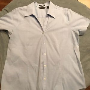 Eddie Bauer wrinkle resistant stretch shirt large